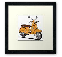 Vespa PX 150 Orange Framed Print
