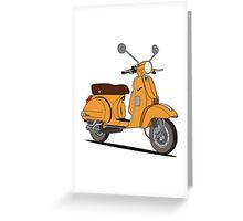 Vespa PX 150 Orange Greeting Card