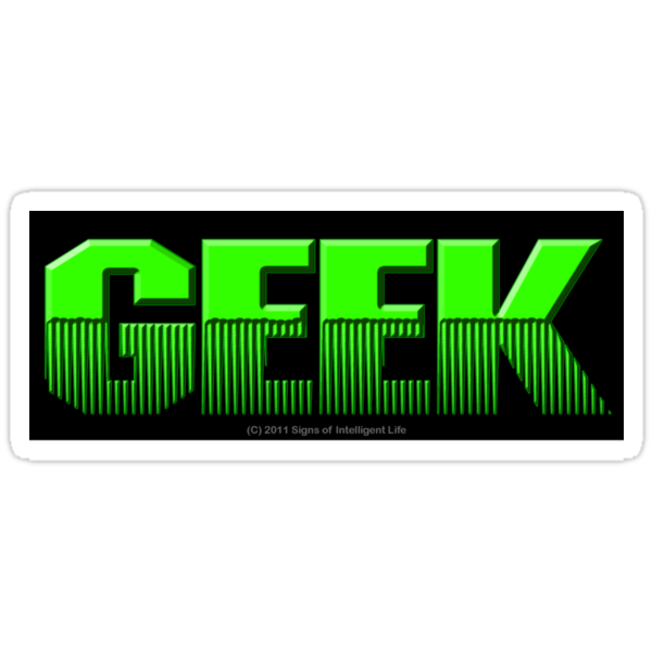 Geek (sticker) by SOIL