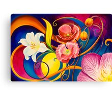 Fantasy in Floral Canvas Print