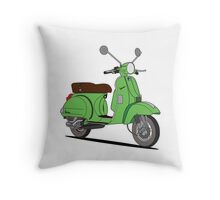 Vespa PX Green Throw Pillow