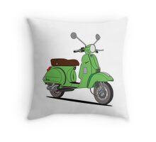 Vespa PX Green Throw Pillow