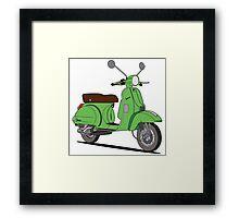 Vespa PX Green Framed Print