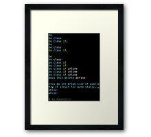 Du Hast Framed Print