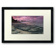 Morning at Alexandra Headlands 1 Framed Print