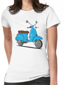 Vespa PX 150 Blue Womens Fitted T-Shirt