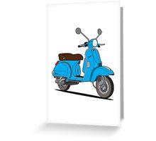 Vespa PX 150 Blue Greeting Card