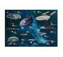 Star Trek Enterpries (All) Art Print