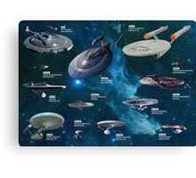 Star Trek Enterpries (All) Canvas Print