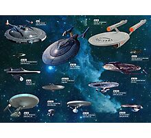 Star Trek Enterpries (All) Photographic Print