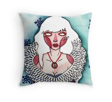 Snow Lady Throw Pillow