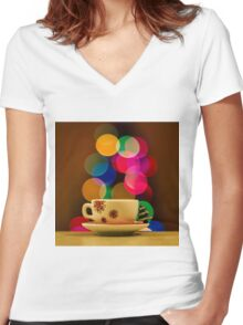 Holidays Women's Fitted V-Neck T-Shirt