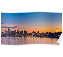 Seattle Skyline After Sunset Poster