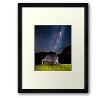 The barn at the end of the universe Framed Print