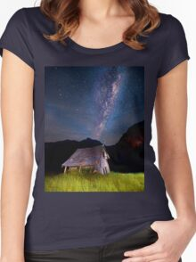The barn at the end of the universe Women's Fitted Scoop T-Shirt