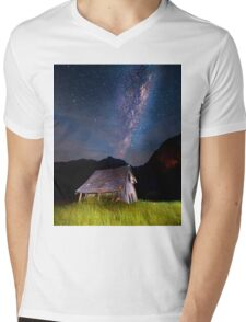 The barn at the end of the universe Mens V-Neck T-Shirt