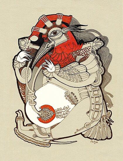 Rooster by Yuliya Art