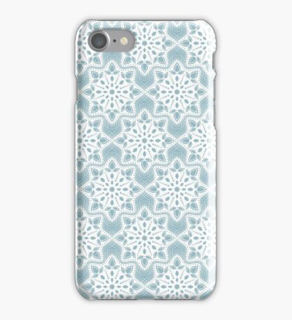 New Year; Christmas; winter. Lace pattern iPhone Case/Skin