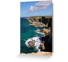 La Grande Falaise   Guadeloupe Greeting Card