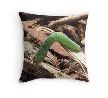 caterpillar on the go Throw Pillow