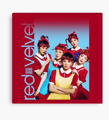 Red Velvet Dumb Dumb Canvas Print