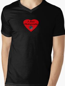 I Love Photography Shirt and Sticker Mens V-Neck T-Shirt