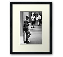 Don't just send me an SMS ... Framed Print
