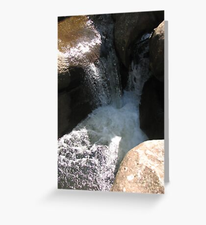 Stone and Water in the Summer Sun Greeting Card