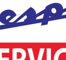 Vespa Service Sticker