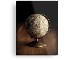 Moon Globe Still Life Metal Print