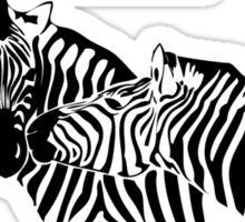 Okavango Zebras Sticker
