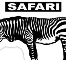 Kalahari Zebra Sticker