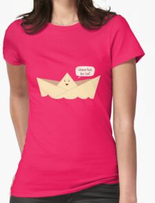 Happy Boat! Womens Fitted T-Shirt
