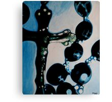 Blue Rosary Canvas Print