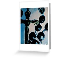 Blue Rosary Greeting Card