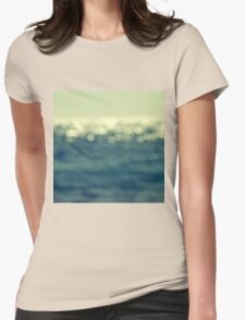 blurred light Womens Fitted T-Shirt