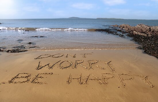 dont worry be happy beach by morrbyte