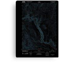 USGS Topo Map Oregon Becker Creek 20110831 TM Inverted Canvas Print