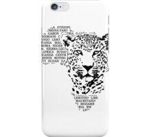 Leopard - Africa Map iPhone Case/Skin