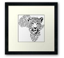 Leopard - Africa Map Framed Print