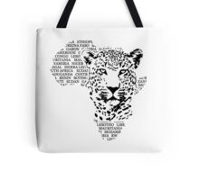 Leopard - Africa Map Tote Bag