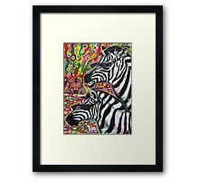 'Zebra Cool' Framed Print
