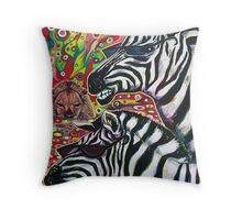 'Zebra Cool' Throw Pillow