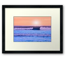 an evening storm Framed Print