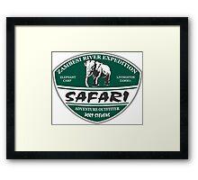 Elephant - The Safari Camp Framed Print