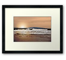 evening sunset storm Framed Print