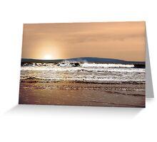 evening sunset storm Greeting Card