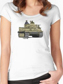 The Dogs of War: Tiger Tank Women's Fitted Scoop T-Shirt