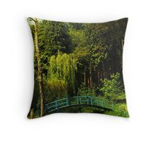 The Blue bridge, Prescoed, Wales Throw Pillow