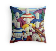 Trad. session big band Throw Pillow